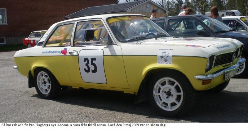 S opel ascona a rallybil godk nd appendix k for Garage opel gard